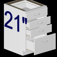 21 inch kitchen base 3d model