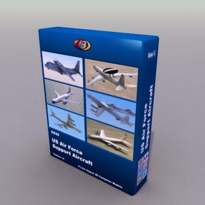 usaf support military 3d model