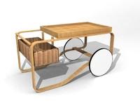 maya serving cart