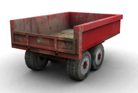 3d model of trailer industry