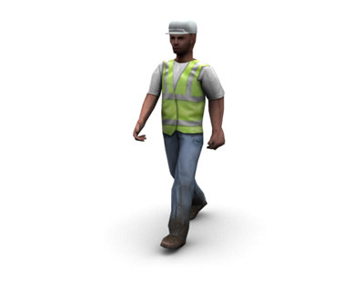 3d model workman man