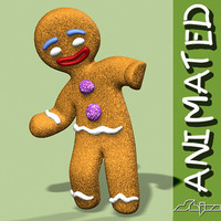 gingerbread animation character 3d model
