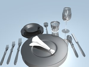 set table fork spoon knife 3ds