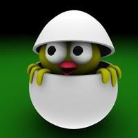 3d egg easter bird model