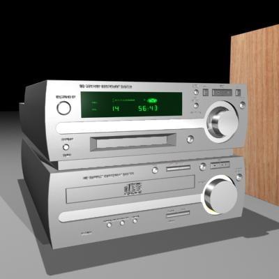 3d hifi compact speakers model