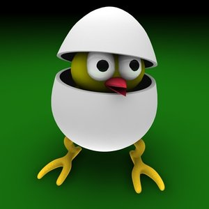 c4d egg easter bird