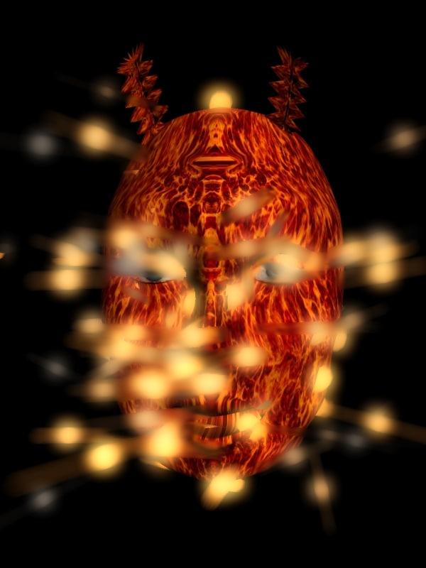 3d model of head demon creature