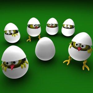 cinema4d egg easter bird
