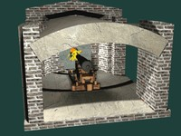 3d model of fort sumter cannon gun