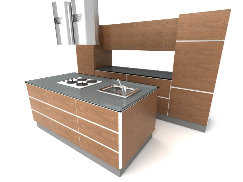 3d model kitchen kanada