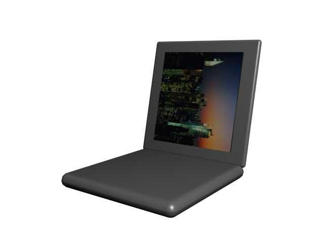 3d laptop notebook model