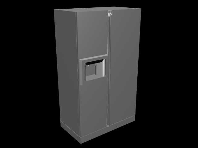 3ds max frige refrigerator