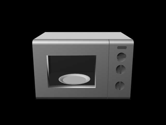 3d model of microwave