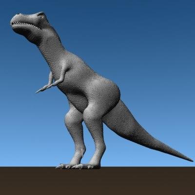 dinosaur base modelled trex 3d model