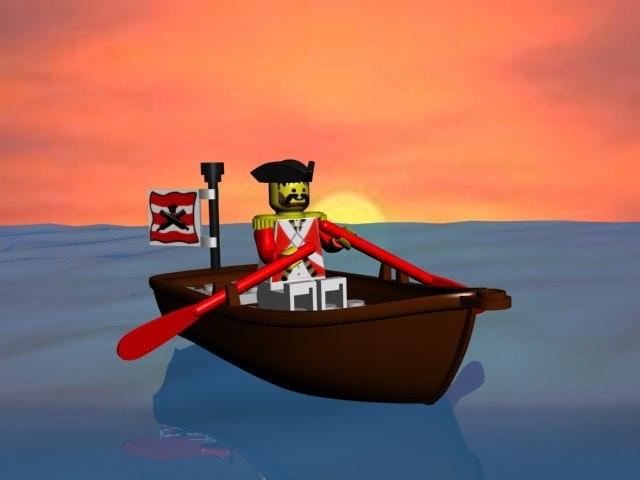 3d lego boat