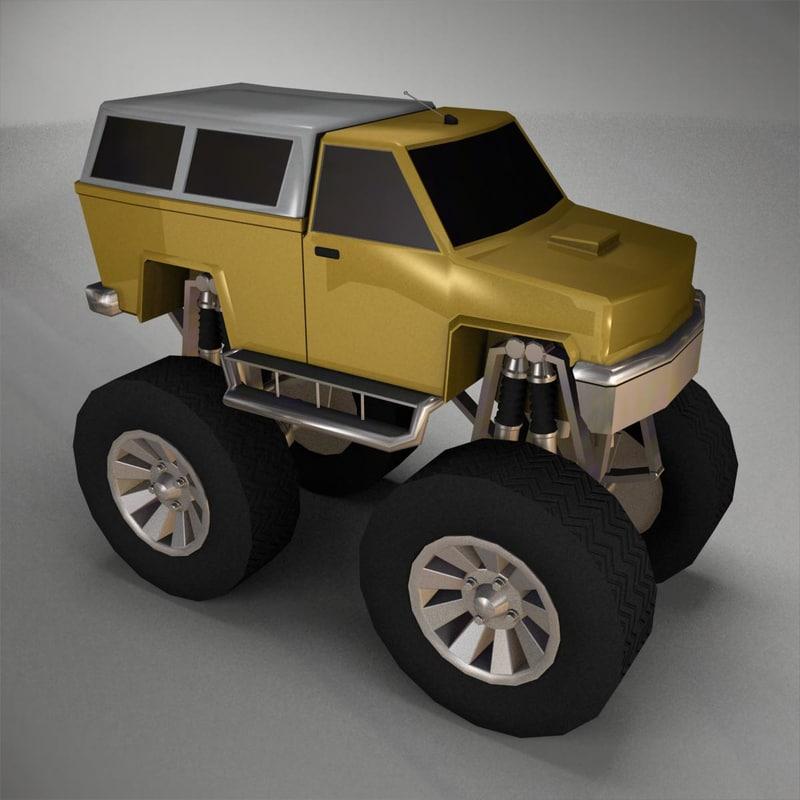 obj monter truck vehicle