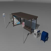 3ds max bus shelter