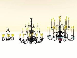 3 chandelier 3d model