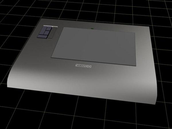 3d model wacom graphics tablet