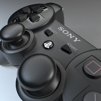 sony joypad modelled ps3 3d max