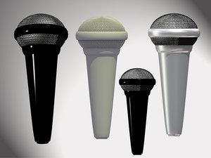3d model microphone zipped