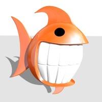 fish toon 3d max