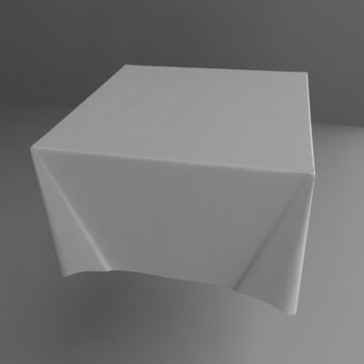 3ds max table cloth