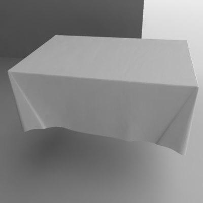 3d model tablecloth