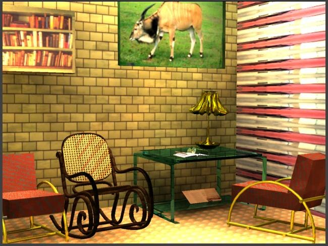 study room 3d model