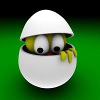 egg easter bird 3d model