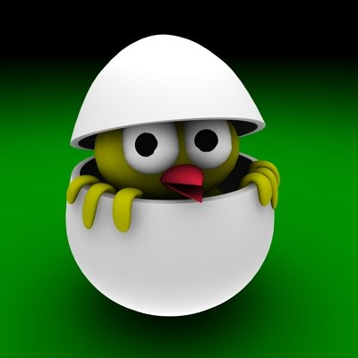 egg easter bird 3d model