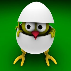 3d model egg easter bird