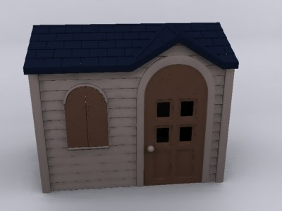 3d model house toy