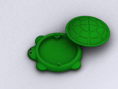 3d model turtle toy