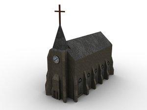 church building 3d model