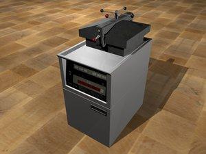 pressure fryer 3d model