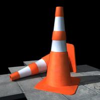 3d traffic cones model
