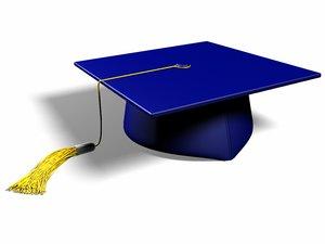 graduation cap 3d model