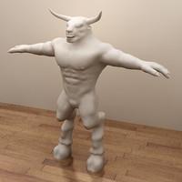Minotaur Character (Hi-Res)