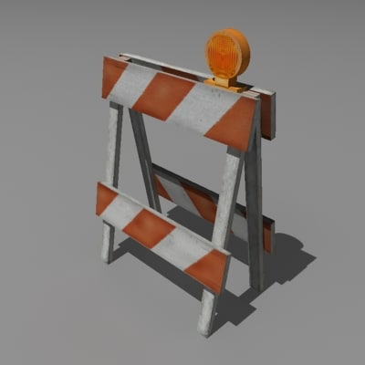 safety barricade 3d model