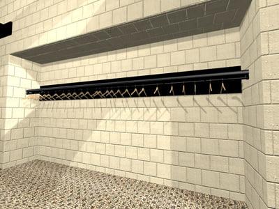 free 3ds model coat rack hangers
