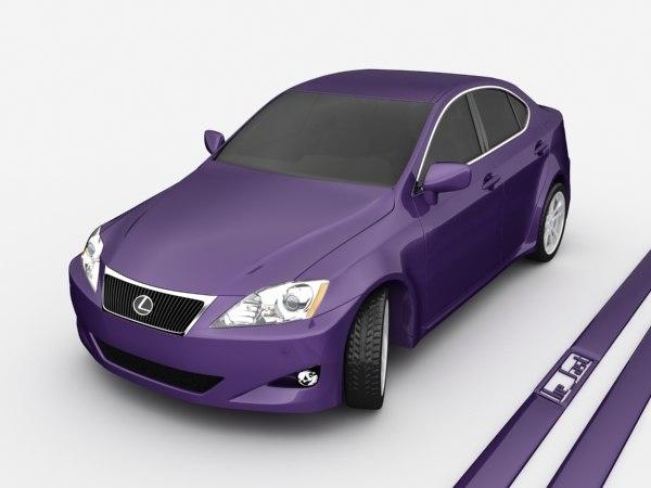 3ds max lexus 2007 car