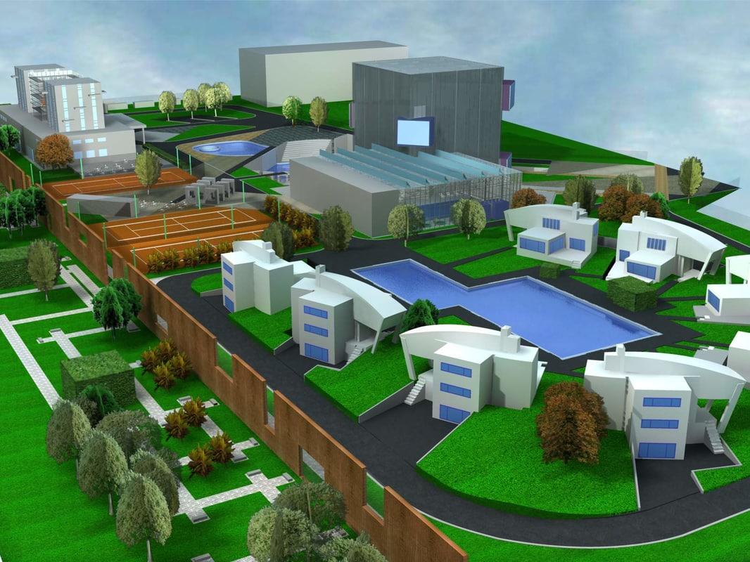 3d urban planning model