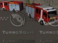 free german firetruck lf 10 3d model