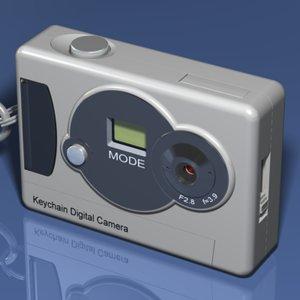 keychain digital camera key 3d model