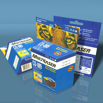 3d cartridge box model