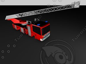 free 3ds mode firetruck 12 based mercedes benz