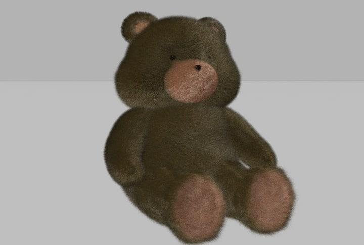 toy teddy bear 3d ma