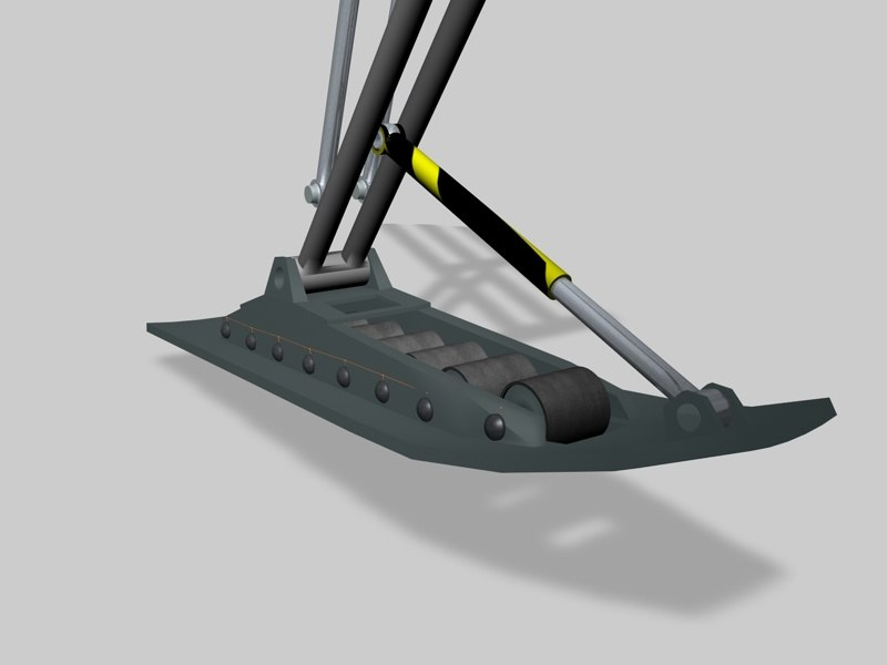 animation landing gear 3d model