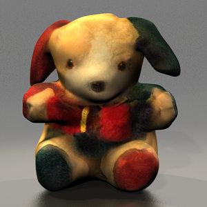 3d stuffed puppy toy doll model